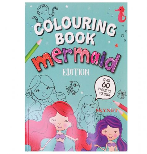 Children's Kid's Boys Girls Colouring Book Mermaid Edition 60 Pages To Colour In
